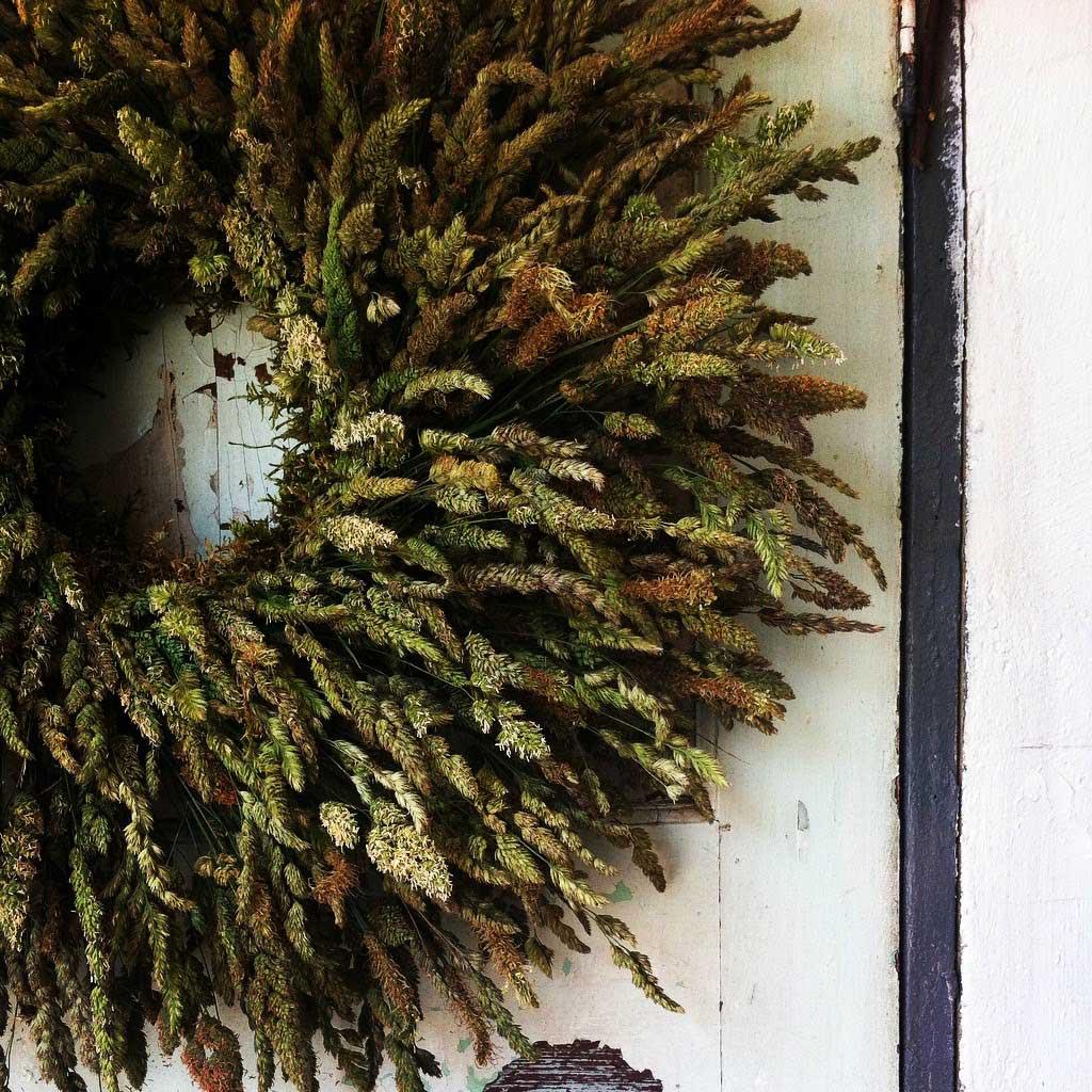 Grass wreath by S P I N D L E