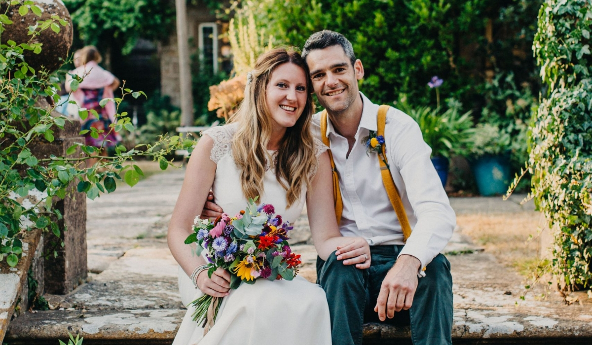 Symondsbury Manor wedding  - Dorset weddings British Flowers